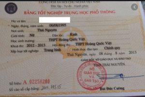 làm bằng cấp tại Thái Nguyên